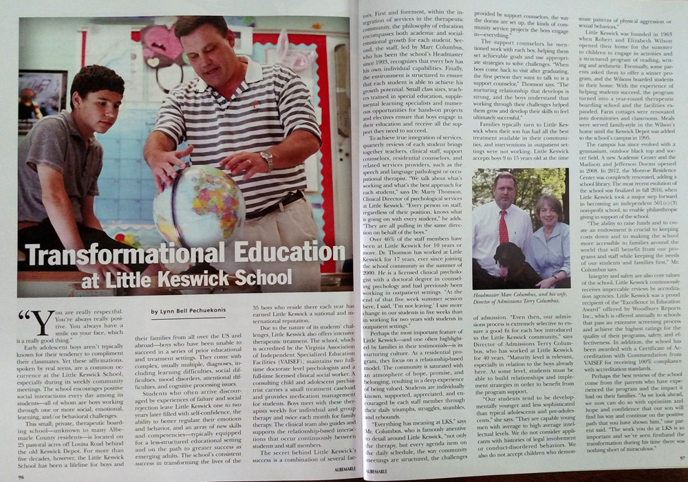 Little Keswick School article